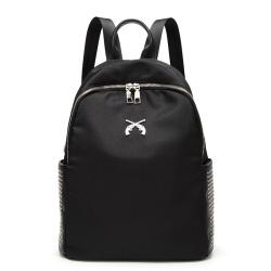 佳佳皮具 2017新款铆钉背包学院风牛津布旅行包外贸学生书包 F34