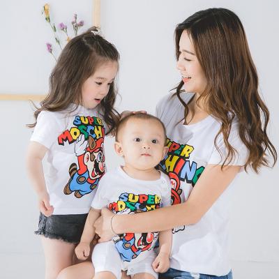 卓依佳2017年夏季韩国马里奥亲子套装 QZ1611