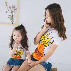 卓依佳2017年夏季韩国皇冠鸡亲子套装  QZ1701