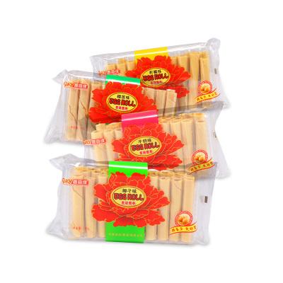 趣香缘蛋卷袋装榴莲柠檬椰子牛奶手工蛋卷零食小吃包装115g四种口味