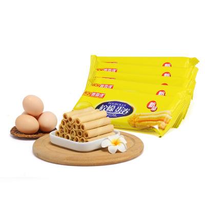 趣香缘 散装柠檬味夹心蛋卷独立包装一箱香脆食品8斤装
