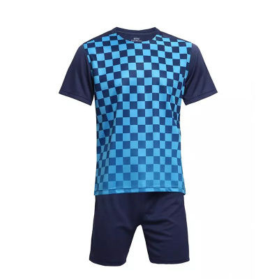 闪鹰 运动格子T恤训练服足球训练服大人童装同款6003#