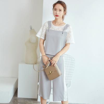 乔致奈莫 2017新款气质通勤显瘦职业休闲裤时尚套装 Q-1108