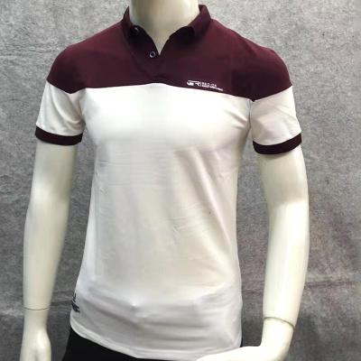 男装t恤男短袖针织翻领POLO衫男士韩版修身T恤687
