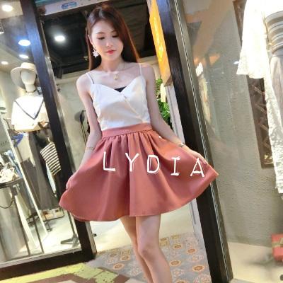 LYDIA 撞色小礼服连衣裙 LY90023