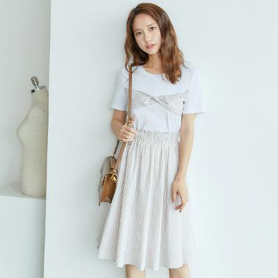 乔致奈莫 2017新款韩版简约时尚女装裙装两件套 Q-1107