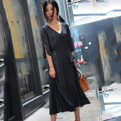 染绪2017夏季新品时尚百搭气质连衣裙1739