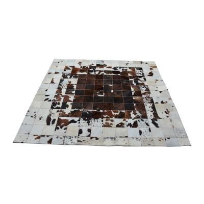 1号家居 简约时尚奢华牛皮地毯卧室高级地毯书房大气地毯高级烟花地毯