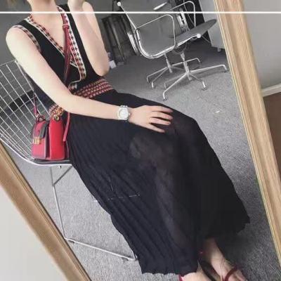 keep 2017夏季时尚新款冰丝针织连衣裙