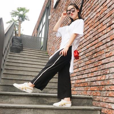 hong style百搭开衩宽松长款T恤【优品】197744