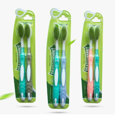 绿箭侠 成人双支装牙刷情侣双人牙刷