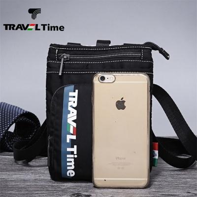 TRAVEL TIME包包男士单肩包休闲潮韩版运动挂包布包迷你小斜挎包