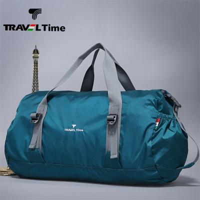 TRAVEL TIME手提包超轻可折叠尼龙防水男女运动休闲包旅行袋