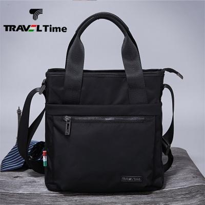 TRAVEL TIME男包手提包公文包竖款商务休闲牛津布斜挎单肩包