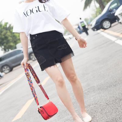 十米菲 2017夏季时尚新款休闲牛仔短裙#2106