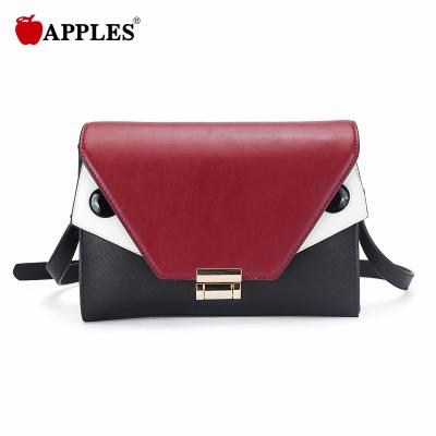 APPLES/苹果 女款时尚潮流撞色锁扣斜挎女包 AA117066-1A