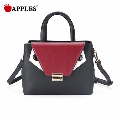 APPLES/苹果 女款时尚潮流撞色锁扣手提斜挎女包 AA117066-2A