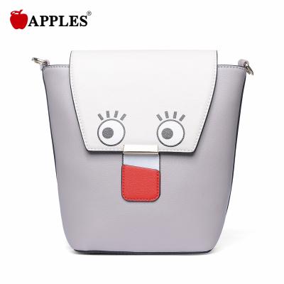 APPLES苹果 女包潮百搭桶形卡通女包日韩斜挎包 AA133051-1P
