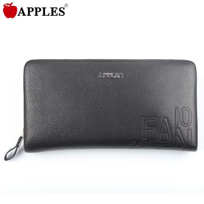 APPLES/苹果 时尚百搭牛皮压花手拿拉链包 AD81112-2A