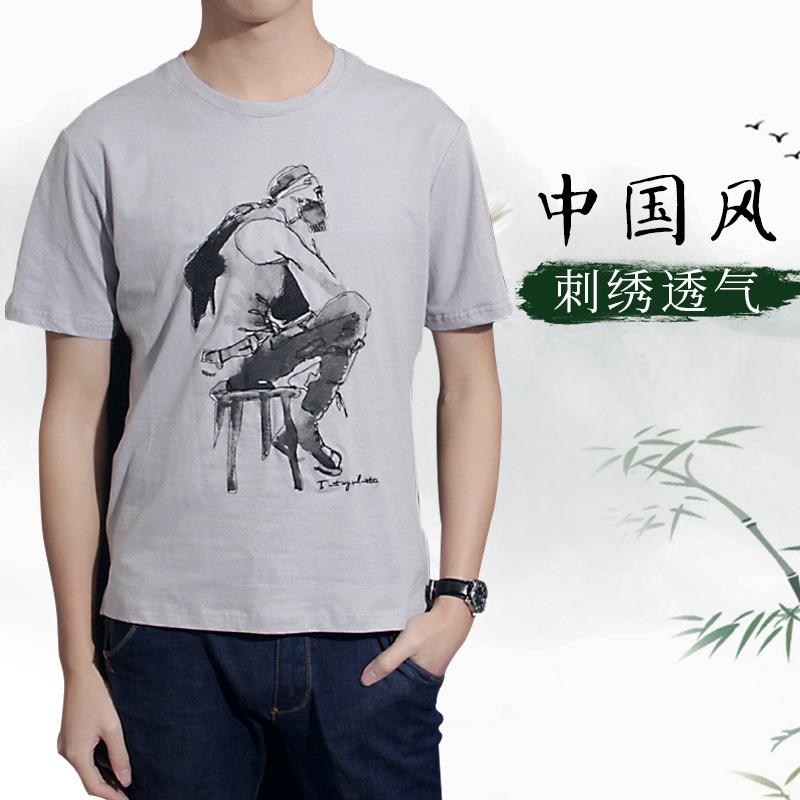 枪林弹雨 短袖T恤男士2017夏新款印...
