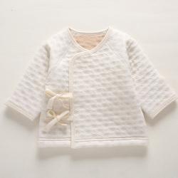 婴桃 婴儿提花夹棉系带 和尚服 201627