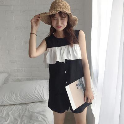 乔致奈莫 2017新款韩版简约时尚女装裤装两件套 Q-1157