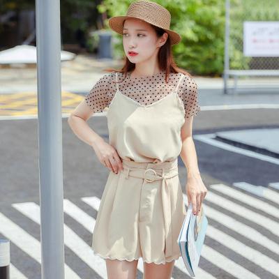 乔致奈莫 2017新款韩版简约时尚女装裤装两件套 Q-1148