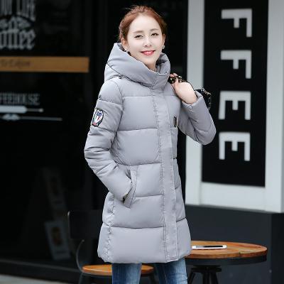 素裁 2017年冬季新款时尚中长款修身羽绒棉服连帽加厚棉服 8803