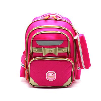 华盛星新款带反光条小学生书包男女双肩背包防水耐磨儿童书包反光8303