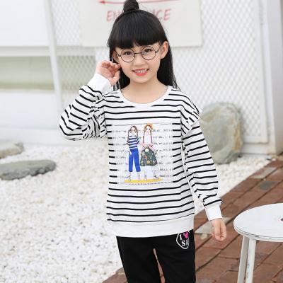 童话歌 2017秋季上新韩版简约可爱印花女上衣长袖衫 3003
