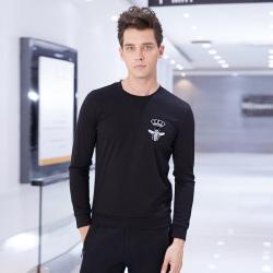 2017新款圆领小贴图长袖纯色男装时尚卫衣男 AS178235