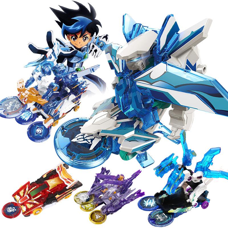 爆裂飞车2变形玩具套装爆烈三晶片3...