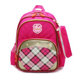 华盛星新款带反光条小学生书包男女双肩背包防水耐磨儿童书包反光8305