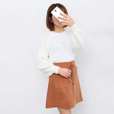2018秋季新款韩版长袖女气质毛针织衫连衣裙时尚套装裙子两件套潮 套#8130