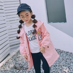 魔逗星 2017新款女童韩版化纤可爱长袖外套卡通小黄鸭 M023