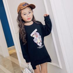 魔逗星  时尚童趣女童卫衣  M042