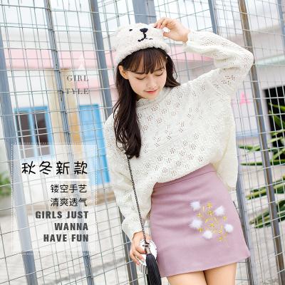 女人志2017新款秋冬毛衣裙子套装#8121