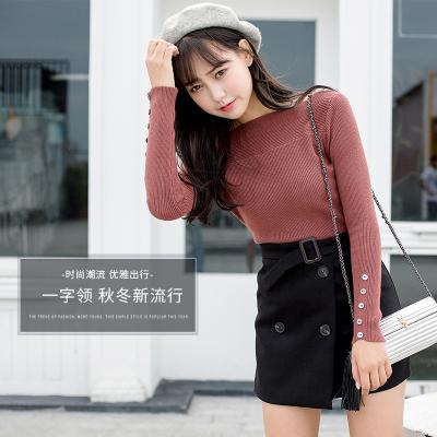 新款2017女装韩版显瘦秋冬季女毛衣上装冬装时尚#8111