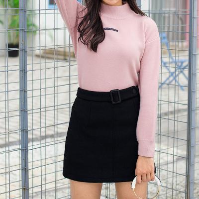 女装秋冬装2017新款潮流时尚针织衫两件套圆领毛呢半身裙#8102
