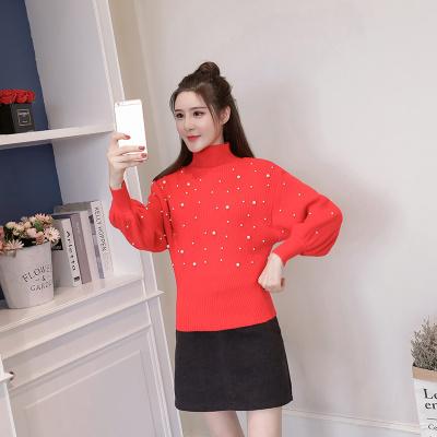 女人志 秋冬时尚两件套高领针织毛衣裙子套装8151
