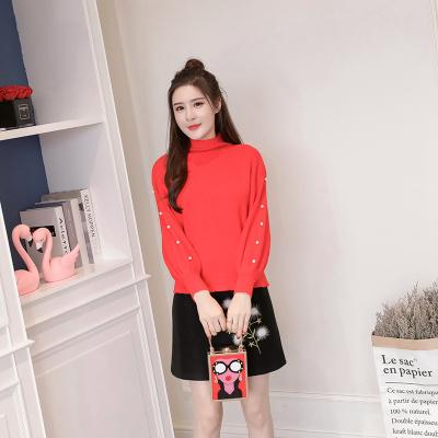 女人志 秋冬时尚两件套修身半高领针织毛衣裙子套装8160