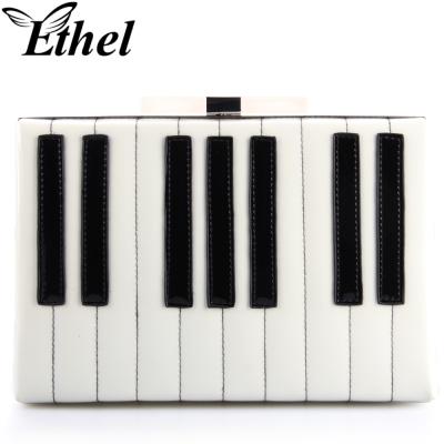 珠艺Ethel 钢琴键特色精巧斜跨单肩手拿小包晚宴包 JY0769