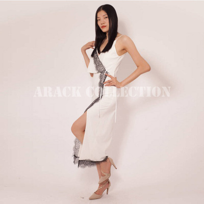 ARACK名媛单肩开衩礼服长裙XS19420706020