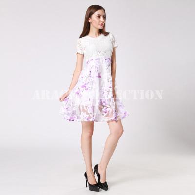 ARACK 2018年新款花边欧美风时尚蕾丝雪纺高腰蓬裙