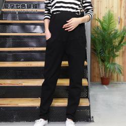 依曼莱孕妇打底裤秋冬加绒加厚托腹外穿休闲裤新款孕妇长裤T5260