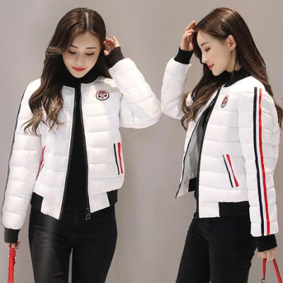 布桂坊2017冬季新品韩版修身时尚棉衣女短款棉服棒球服学生外套6801