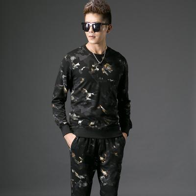 2017秋季修身型男士圆领卫衣上衣#XD-178019