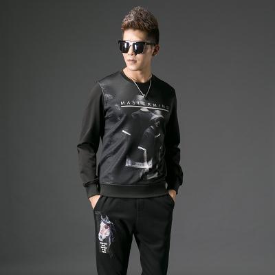 2017秋季修身型男士圆领卫衣套装#XD-178025