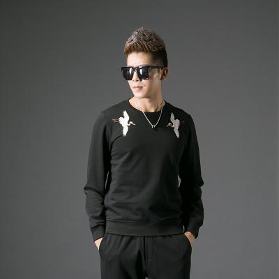 2017秋季修身型男士圆领卫衣#XD-178031