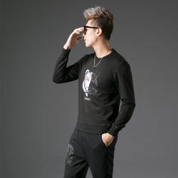 2017秋季修身型男士圆领卫衣#XD-178072